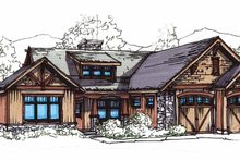 Home Plan - Craftsman Exterior - Front Elevation Plan #17-2908