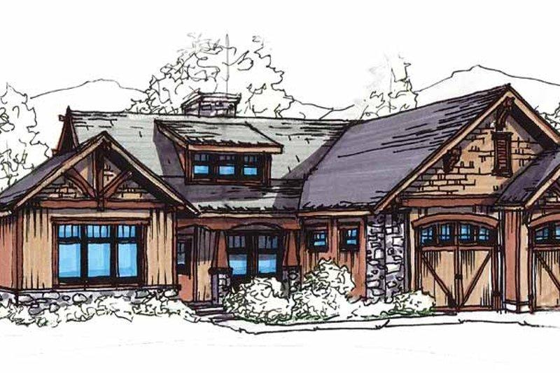 Dream House Plan - Craftsman Exterior - Front Elevation Plan #17-2908