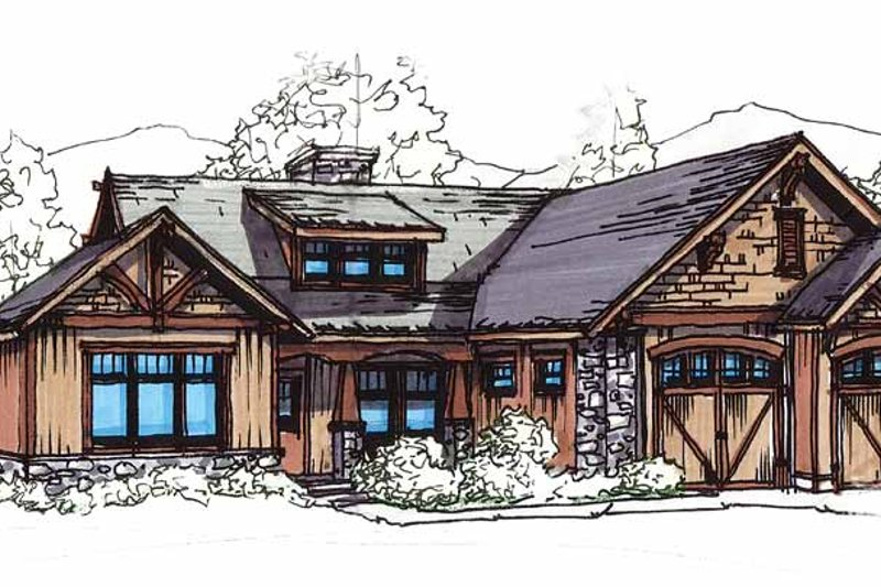 Craftsman Exterior - Front Elevation Plan #17-2908