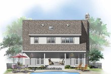 Country Exterior - Rear Elevation Plan #929-143