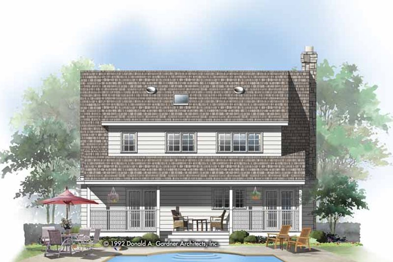 Country Exterior - Rear Elevation Plan #929-143 - Houseplans.com