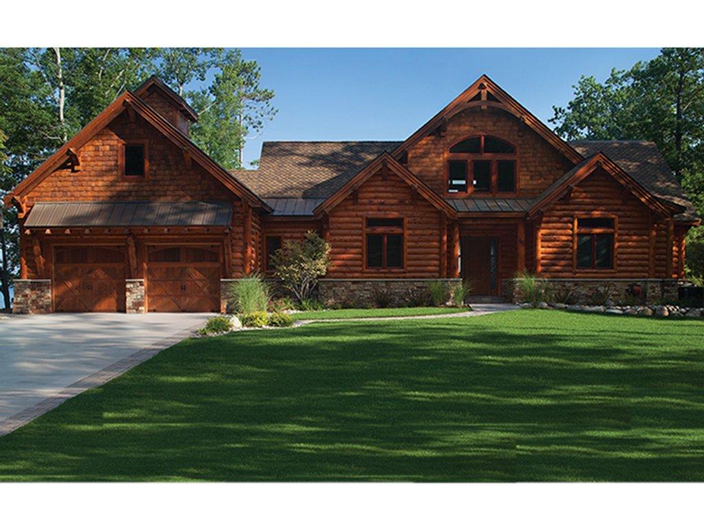 Log style house plan 5 beds 4 5 baths 5140 sq ft plan for Log home design e planimetrie