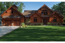 Home Plan - Log Exterior - Front Elevation Plan #928-263