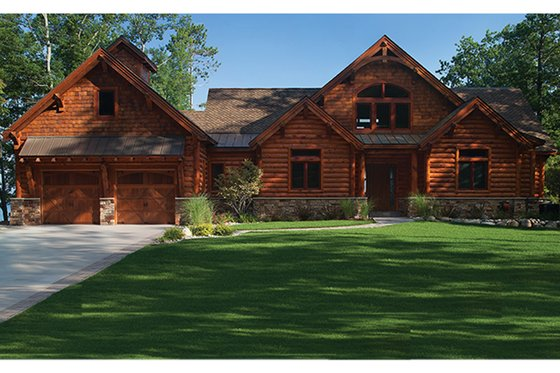 House Plan Design - Log Exterior - Front Elevation Plan #928-263