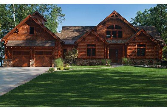 House Plan Design - Log Exterior - Front Elevation Plan #928-263
