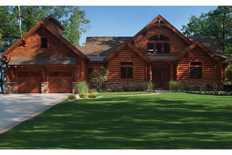 Dream House Plan - Log Exterior - Front Elevation Plan #928-263