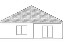 Adobe / Southwestern Exterior - Rear Elevation Plan #1058-88