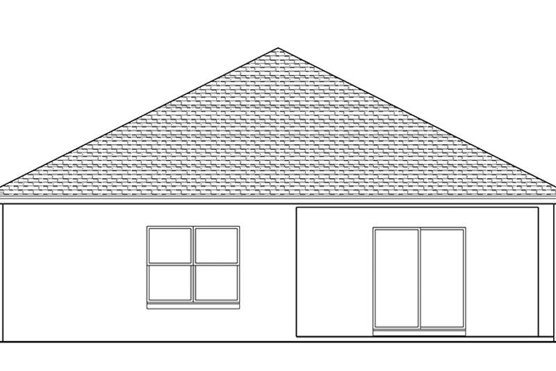 Adobe / Southwestern Exterior - Rear Elevation Plan #1058-88 - Houseplans.com