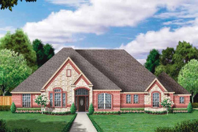 House Plan Design - Country Exterior - Front Elevation Plan #84-648