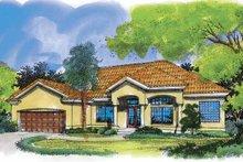 Dream House Plan - Mediterranean Exterior - Front Elevation Plan #320-521