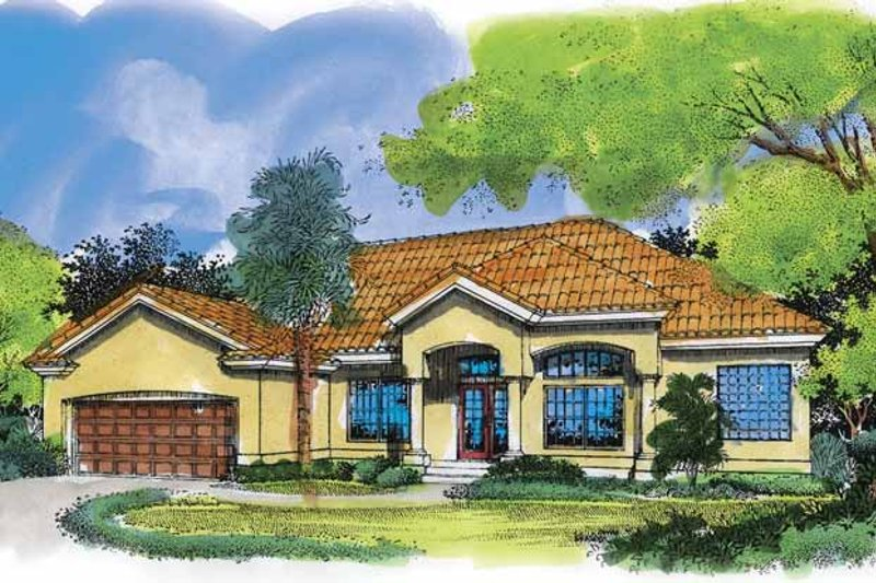 Mediterranean Exterior - Front Elevation Plan #320-521