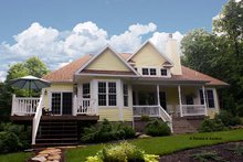 Dream House Plan - Country Exterior - Rear Elevation Plan #929-700