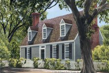 Colonial Exterior - Front Elevation Plan #137-343