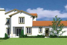 Architectural House Design - Mediterranean Exterior - Other Elevation Plan #72-1119