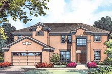 Country Exterior - Front Elevation Plan #1015-54