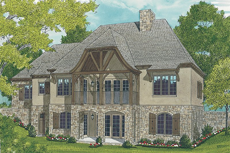 Country Exterior - Rear Elevation Plan #453-616 - Houseplans.com