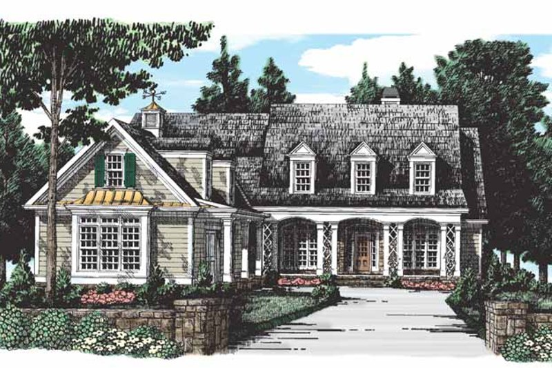House Plan Design - Country Exterior - Front Elevation Plan #927-275