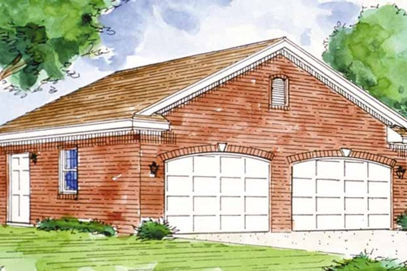 Country Exterior - Front Elevation Plan #410-3602