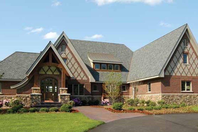 Architectural House Design - European Exterior - Front Elevation Plan #928-28