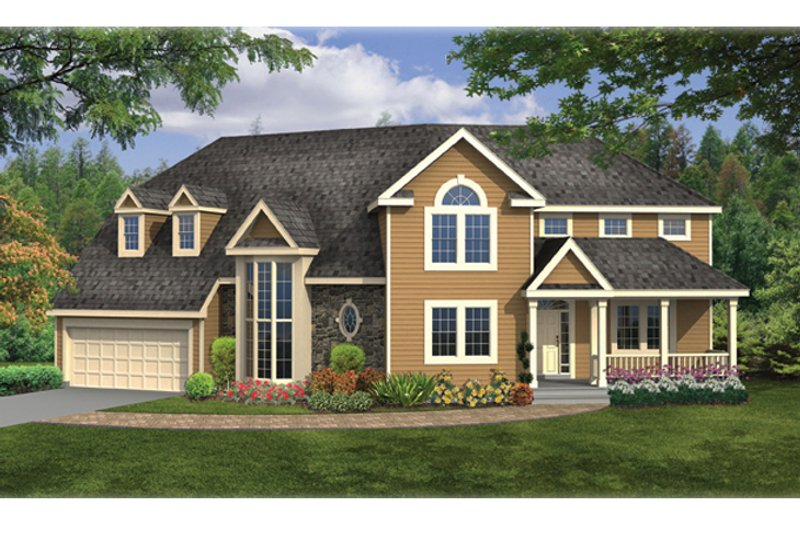 Country Exterior - Front Elevation Plan #314-286 - Houseplans.com