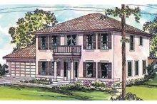 Home Plan - Mediterranean Exterior - Front Elevation Plan #124-428