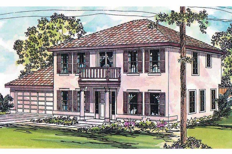Dream House Plan - Mediterranean Exterior - Front Elevation Plan #124-428
