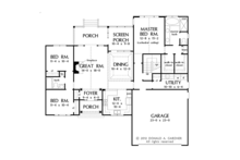 Traditional Floor Plan - Main Floor Plan Plan #929-951