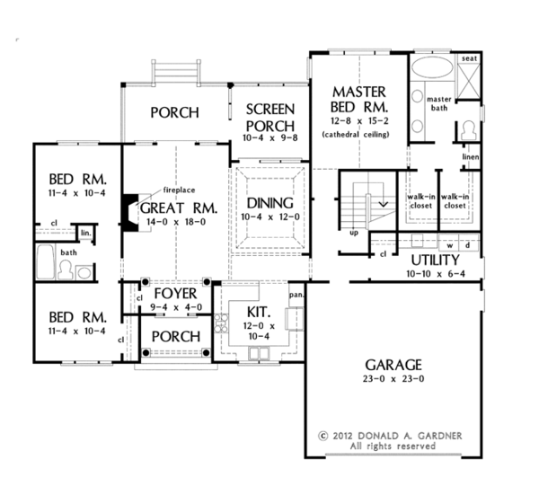 Traditional Floor Plan - Main Floor Plan Plan #929-951