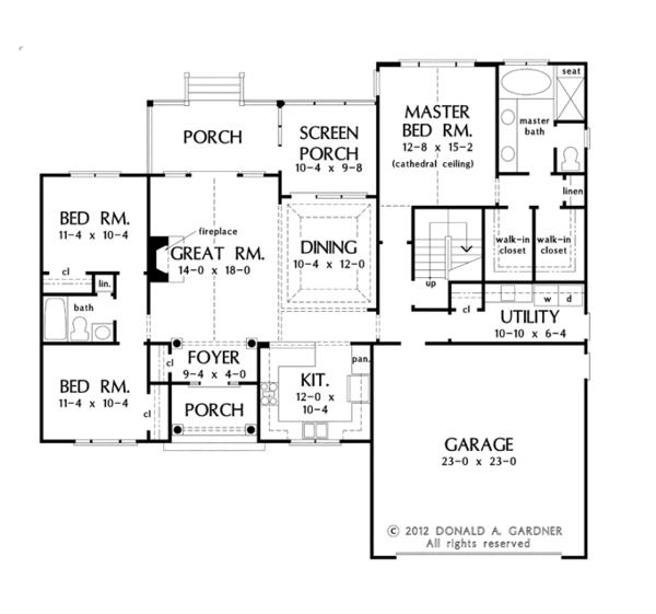Dream House Plan - Traditional Floor Plan - Main Floor Plan #929-951