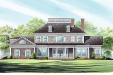 House Plan Design - Classical Exterior - Rear Elevation Plan #137-328