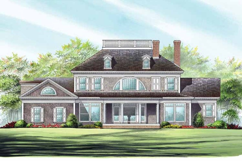 Classical Exterior - Rear Elevation Plan #137-328 - Houseplans.com