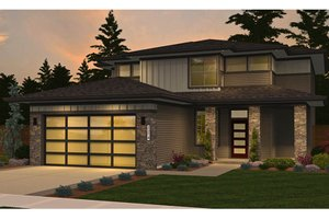 Dream House Plan - Contemporary Exterior - Front Elevation Plan #943-49