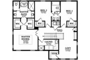 Mediterranean Style House Plan - 4 Beds 3 Baths 2776 Sq/Ft Plan #1058-131 Floor Plan - Upper Floor Plan