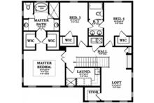 Mediterranean Floor Plan - Upper Floor Plan Plan #1058-131