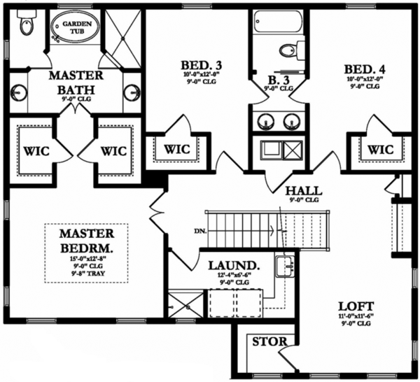 House Plan Design - Mediterranean Floor Plan - Upper Floor Plan #1058-131