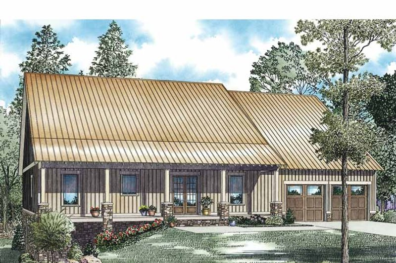 Country Exterior - Front Elevation Plan #17-3354 - Houseplans.com