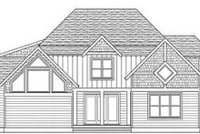 Tudor Exterior - Rear Elevation Plan #413-140