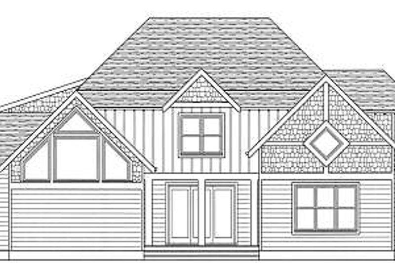 Tudor Exterior - Rear Elevation Plan #413-140 - Houseplans.com