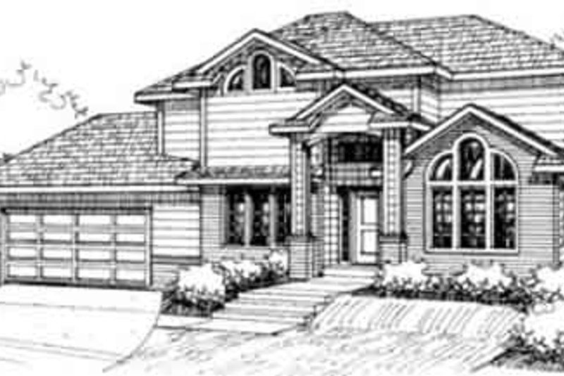 Traditional Exterior - Front Elevation Plan #117-213 - Houseplans.com