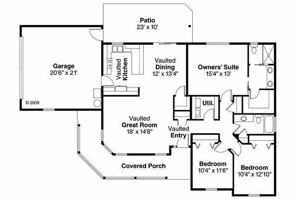 House Plan Design - Farmhouse Floor Plan - Main Floor Plan #124-686