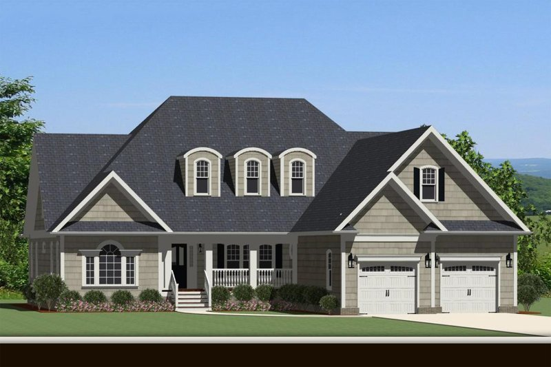 Front view - 3100 square foot Traditional home