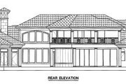 European Style House Plan - 5 Beds 5.5 Baths 6771 Sq/Ft Plan #27-274 Exterior - Rear Elevation