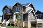 Craftsman Style House Plan - 4 Beds 3.5 Baths 2760 Sq/Ft Plan #434-5 Exterior - Other Elevation