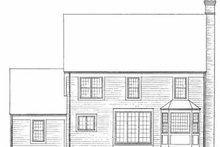 Colonial Exterior - Rear Elevation Plan #72-356