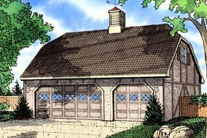 Tudor Exterior - Front Elevation Plan #405-152