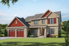 Dream House Plan - Traditional Exterior - Front Elevation Plan #20-2085