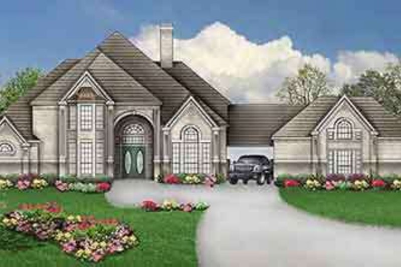 Dream House Plan - European Exterior - Front Elevation Plan #84-190