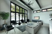 Contemporary Style House Plan - 3 Beds 2 Baths 2011 Sq/Ft Plan #928-345 Interior - Family Room