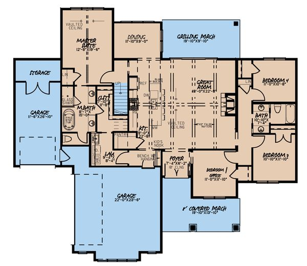 Home Plan - Farmhouse Floor Plan - Main Floor Plan #923-181