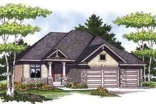 Dream House Plan - Craftsman Exterior - Front Elevation Plan #70-824